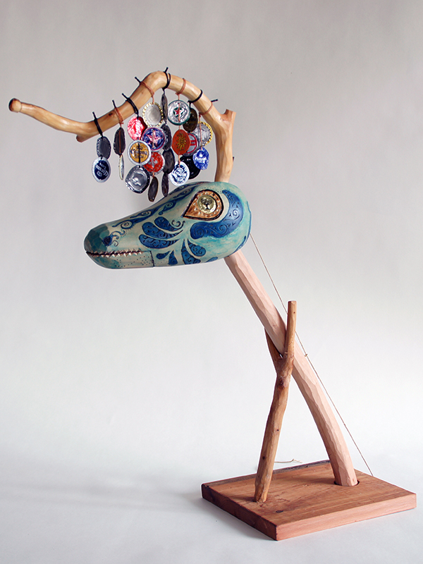 musical instrument in the shape of a fantastical creature.